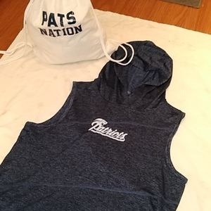 New England Pats Nation Gym Hoodie + Gym Sack Set
